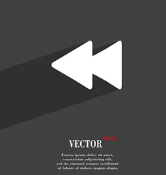 Rewind icon symbol flat modern web design with vector
