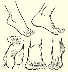 Feet drawings vector