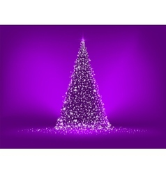 Abstract purple christmas tree vector