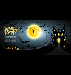 Happy halloween scary background vector