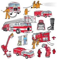 First responders art vector
