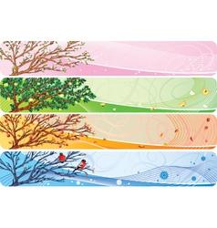 Seasonal banner vector