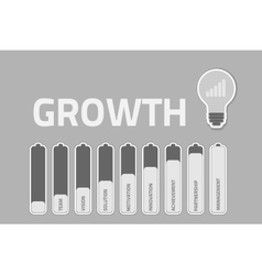 Business growthconcept vector
