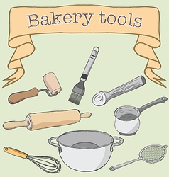Bakery tools vector