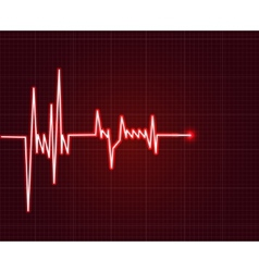 Electrowave heart beat cardiogram pulse icon vector