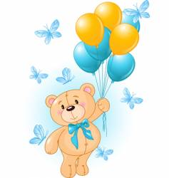 Boy teddy vector