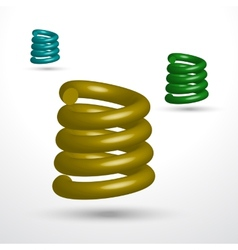 Three isolated springs vector