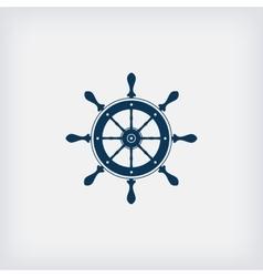 Marine steering wheel icon vector