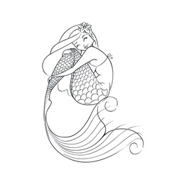 Mermaid fairy-tale character vector