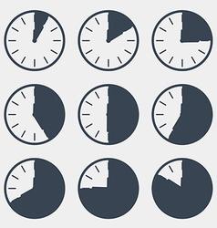 Clock - time countdown set vector