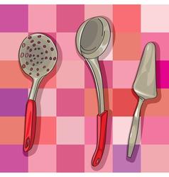 Kitchen ladles vector