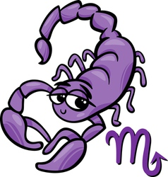 Scorpio zodiac sign cartoon vector