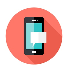 Smartphone notification flat circle icon vector