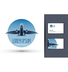 Airplane logo design template journey or travel vector