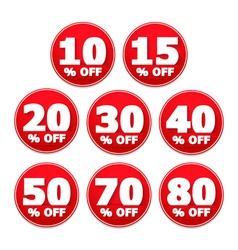 Discount stickers vector