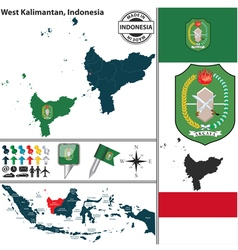 Map of west kalimantan vector