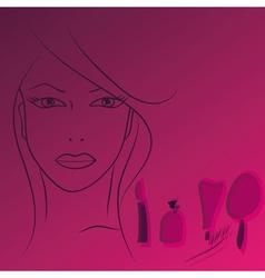 Beauty face woman vector