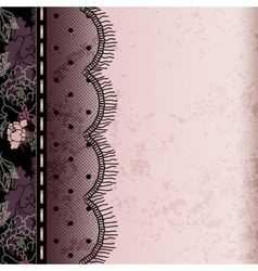 Background with lace fringe vector