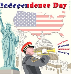 The fourth of july independence day vector