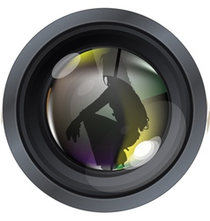 Professional model on photo lens vector