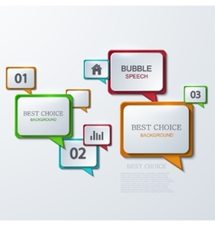 Modern bubble speech infographic vector