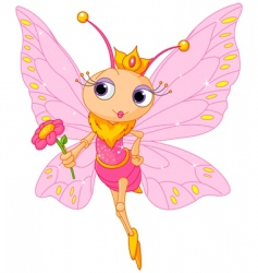 Beautiful butterfly princess vector