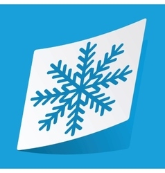 Snowflake sticker vector