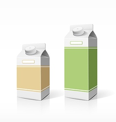 Colorful milk box packaging template vector