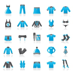 Clothing and fashion collection icons vector