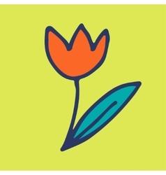 Doodle flower vector