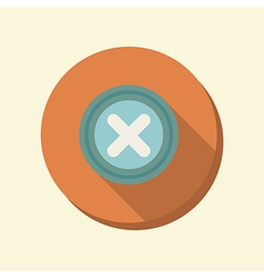 Flat circle web icon erase character vector