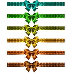 Holiday polka dot bow knots with ribbons vector