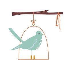 Cute blue bird vector
