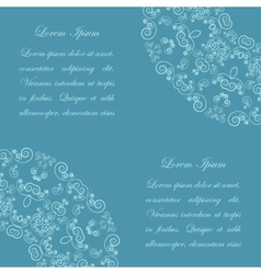 Blue background with vintage ornate pattern vector