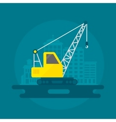 Lifting crane flat vector