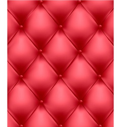 Red genuine leather upholstery vector
