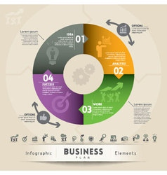Business plan concept graphic element vector
