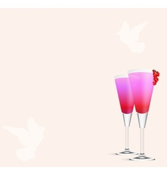 Cocktail romance vector