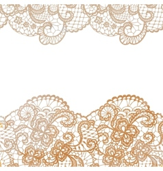 Lacy elegant border invitation card vector