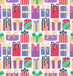 Seamless pattern with gifts vector