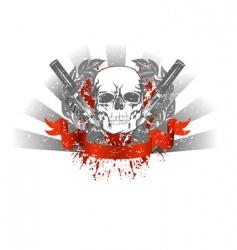 Grunge skull vector