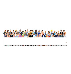 Group people banner vector