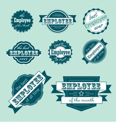 Employee of the month label set vector