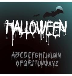 Halloween splash alphabet vector