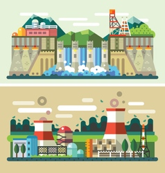 Industrial landscapes vector
