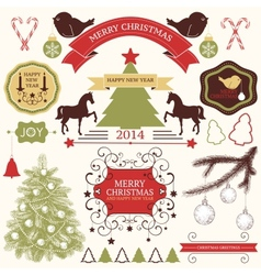 Collection of christmas design elements vector