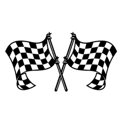 Motor sports flags curling in the breeze vector