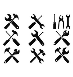 Repair tool icons set vector