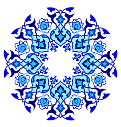 Blue artistic ottoman pattern series sixty vector