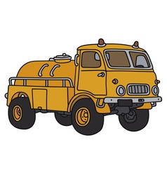 Old small tank truck vector